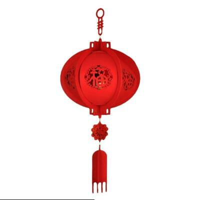 Chinese New Year Paper Decorations (Chinese Reunion Hanging Red Paper Lamp Lantern New Year Festival)
