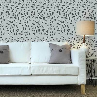 Cat Skin Allover Wall Stencil - Better than wallpaper great for home improvement