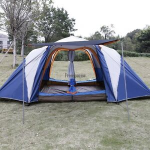 6-8 Person 2-Bedroom Outdoor Camping Hiking Tent Automatic Family Room Instant
