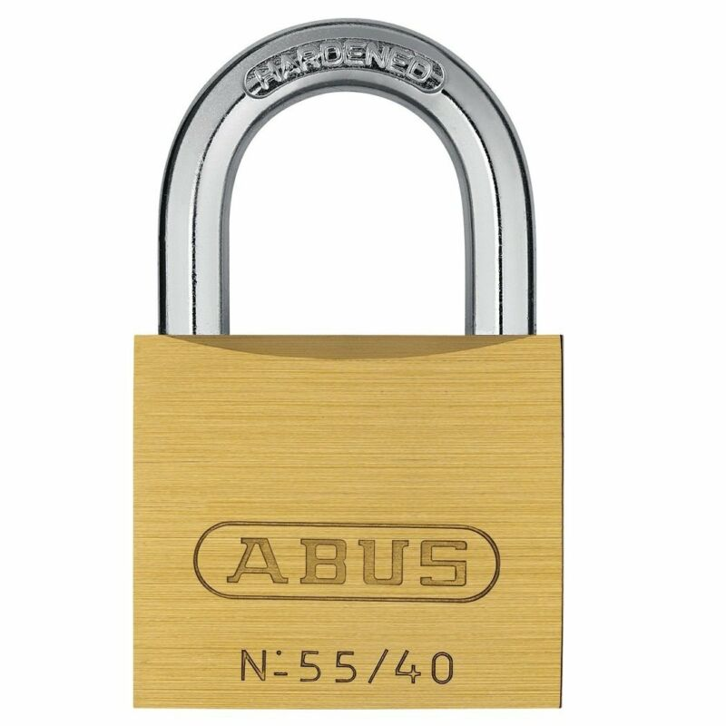 ABUS 55/40 Solid Brass Padlock with Hardened Steel Shackle