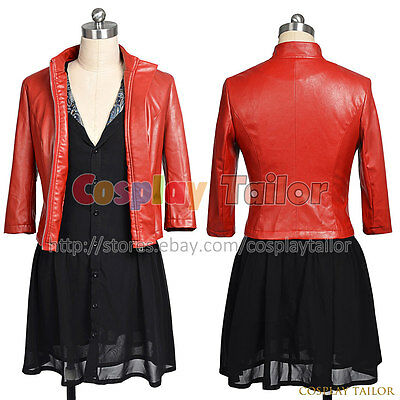 The Avengers 2: Age Of Ultron Scarlet Witch Cosplay Wanda Maximoff Party Uniform](Scarlet Witch Costume Avengers 2)