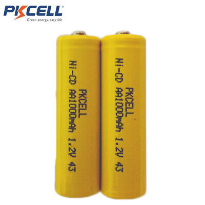 2x AA Battery Remote Control Cell Rechargeable 1.2v 1000mAh NiCd Batteries
