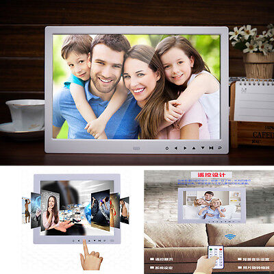 10/13/15/17' Inch Clock MP4 Movie Player Digital Photo Frame album Touch Buttom