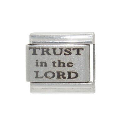 - Trust in the Lord laser charm - fits 9mm classic Italian charm bracelets