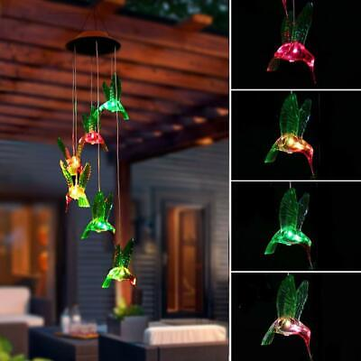 Color Changing Solar Power LED Wind Chime Light Home Garden Wedding Xmas Decor