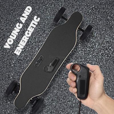 Electric Skateboard Motorized Longboard w/ Replaceable Off-road Wheels Contorl