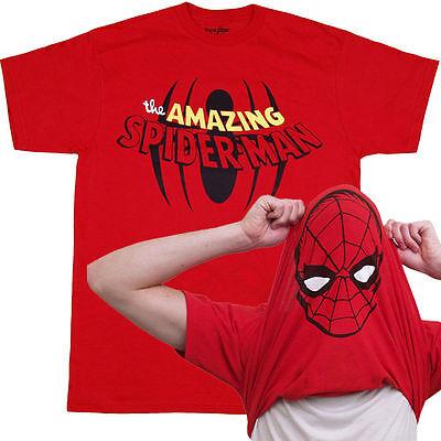 Amazing Spider-man Flip Over Spidey Mask T-Shirt