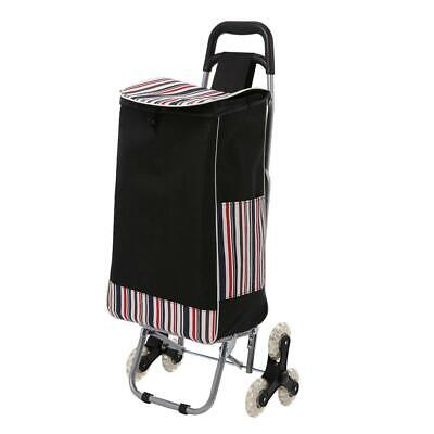 Folding Shopping Cart Grocery Climbing Rolling Utility Trolly With 6 Wheel Bag