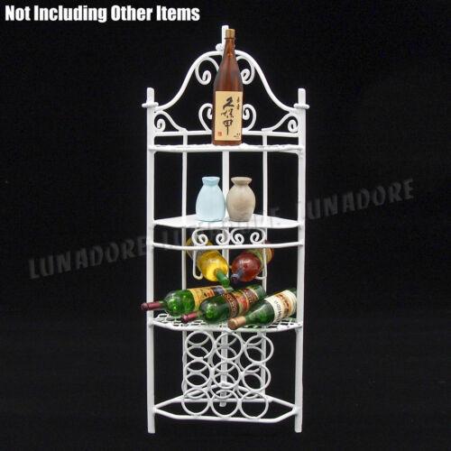 1:12 Dollhouse White Corner Wine Rack Furniture Miniature Decor Gift Collection