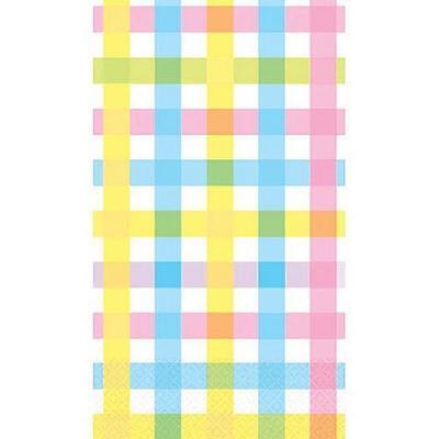 Colorful Gingham Spring Floral Easter Garden Party Paper Napkins Guest Towels](Gingham Paper Napkins)