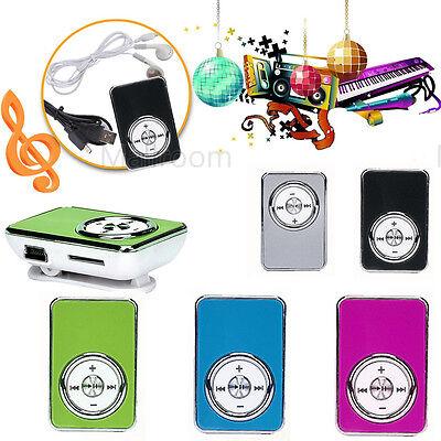 Portable Lcd Screen Metal Mini Clip Mp3 Player Support Micro Tf Sd  Earphone Usb
