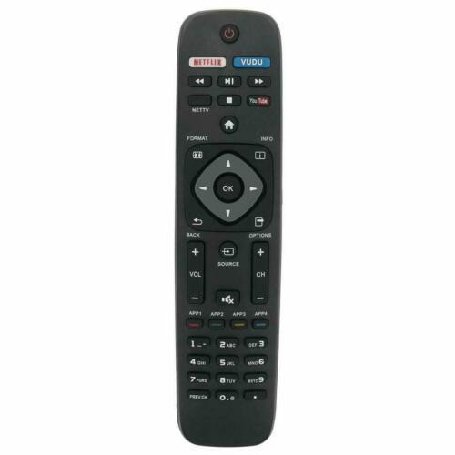 New Remote Nh500up For Philips Smart Tv Netflix Vudu 50pfl5601/f7 55pfl5602/f7