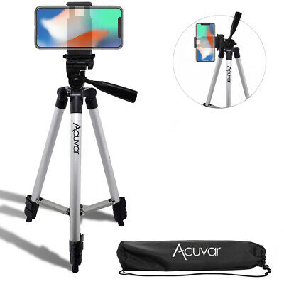 "Acuvar 50"" inch Smartphone Tripod + Bag For iPhone Xr 11 Pro Xs Max 8 plus 7+ 6s"
