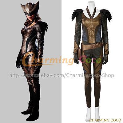 Green Arrow Hawkgirl Kendra Saunders Cosplay Costume Halloween Women Uniform
