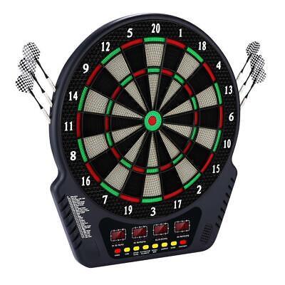Dartscheibe Elektronisch Dartboard mit 6 Dartpfeile Dartspiel E-Dart,LCD Display
