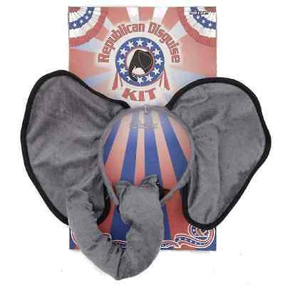 Halloween Elephant Ears (Republican Disguise Ears Nose Elephant Election USA Halloween Costume)