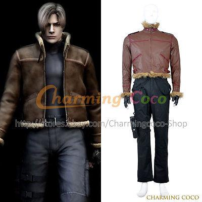 Resident Evil 4 Cosplay Leon Scott Kennedy Leon S. Kennedy Costume Men Halloween](Resident Evil 4 Leon Halloween Costumes)