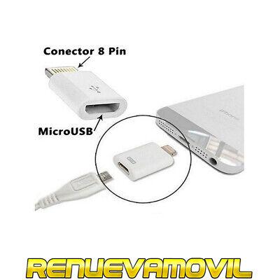 Adaptador Micro USB a 8 Pin Lightning Conector Compatible iPhone 6 6S...
