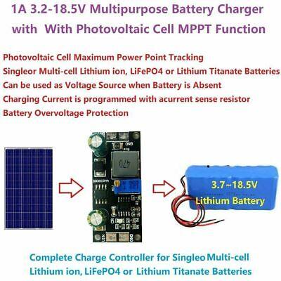 9v 12v 18v Solar Panel Mppt Controller 3.7v 7.4v Lithium Battery Charging Module