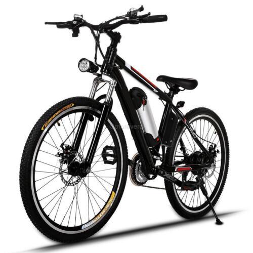 Elektro-Fahrrad Mountainbike 36V/350W Alu E-bike Akku Fahrrad Klapprad LED Licht
