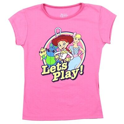 Toy Story Girls New Toddler T-Shirt. Sizes 2T-4T. Pink Short Sleeve Top.