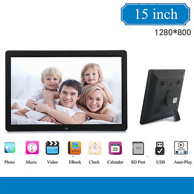 """15"""" Inch Electronic Music/MP4/Movie Player LED Digital Photo Picture Frame album"""