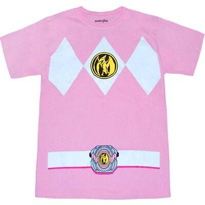 Authentic Power Rangers Pink Ranger Costume Adult T-shirt Tee NEW (Power Rangers Costume Pink)