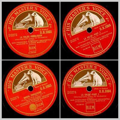 """RAVEL: """"LA VALSE""""  SAN FRANCISCO SYMPH.ORCH. & MONTREUX   2 records 78rpm  GS814"""