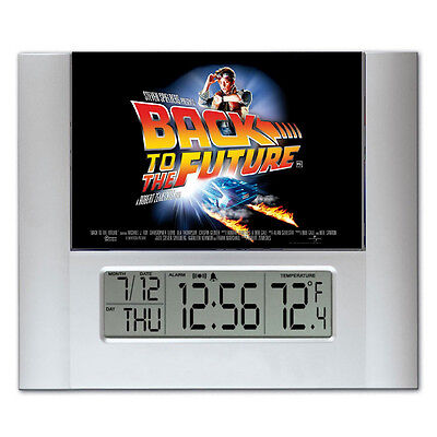 Back To The Future Lobby Card Digital Wall Desk Clock with temperature + alarm
