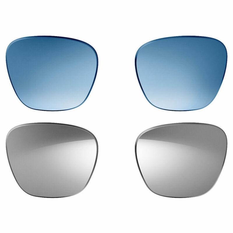 Bose Lenses Alto - 2 Pairs - Polarized Mirrored Silver & Blue Gradient (S/M)