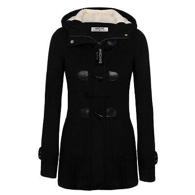 Women Long Sleeve Hoodie Wool Winter Warm Jacket Coat Trenck Parka Outwear