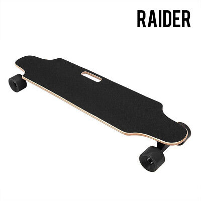 RAIDER Electric Skateboard Longboard Remote Control & Charger Black Long Board