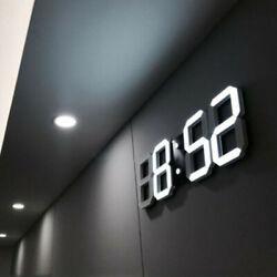 Digital Large Big Jumbo LED Wall Desk Clock Plastic With Calendar Temperature