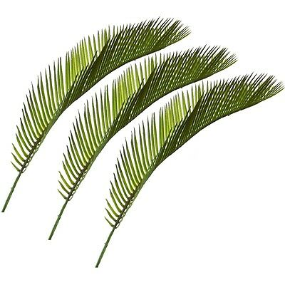 (Set of 3 Artificial Cycas Palm Leaves - 41cm - Easter Palm Sunday - Green Leaf)