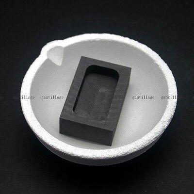 1000grams Quartz Crucible Smelting Bowl Graphite Ingot Mold Gold Silver Melting