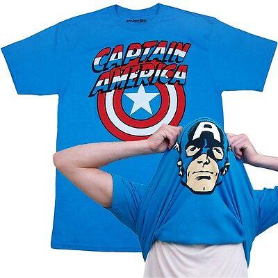 Captain America Flip Over Mask T-Shirt