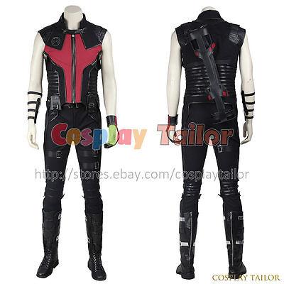 The Avengers 1 Film Clint Barton Hawkeye Cosplay Costume Uniform Halloween New