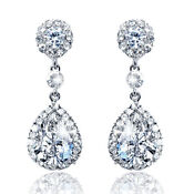 Swarovski Clear Drop Earrings