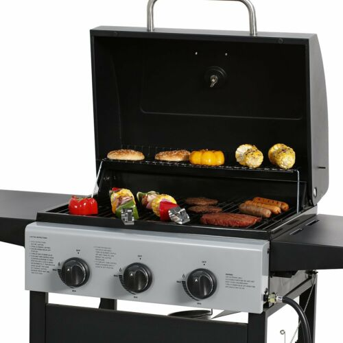 3 Burner Gas Grill  BBQ Garden Patio Stainless Bite the bullet Outdoor Cooking Barbecue