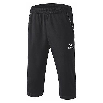 Erima 3/4 Trainingshose dreiviertel Sporthose Fitnesshose schwarz [110528]