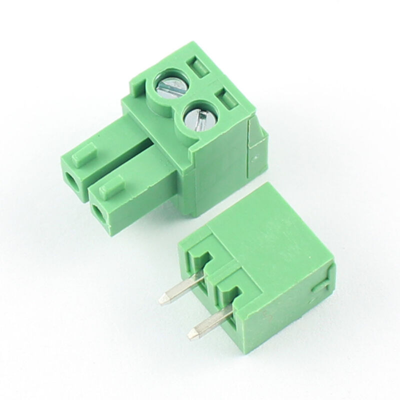 10Pcs 3.5mm Pitch 2 Pin Way Straight Screw Terminal Block Pluggable Connector