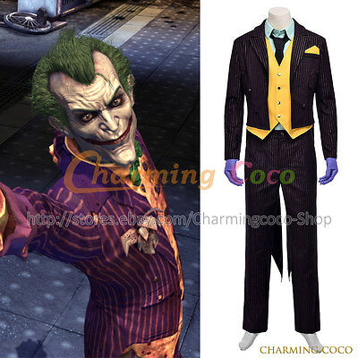 Batman: Arkham City Cosplay The Joker Costume Suit Uniform Halloween Party - Party City Halloween Costumes For Men