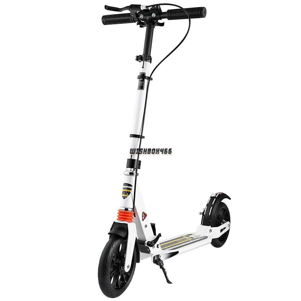Folding Aluminum 2 Wheel Adult Kick Scooter Adjustable Heigh