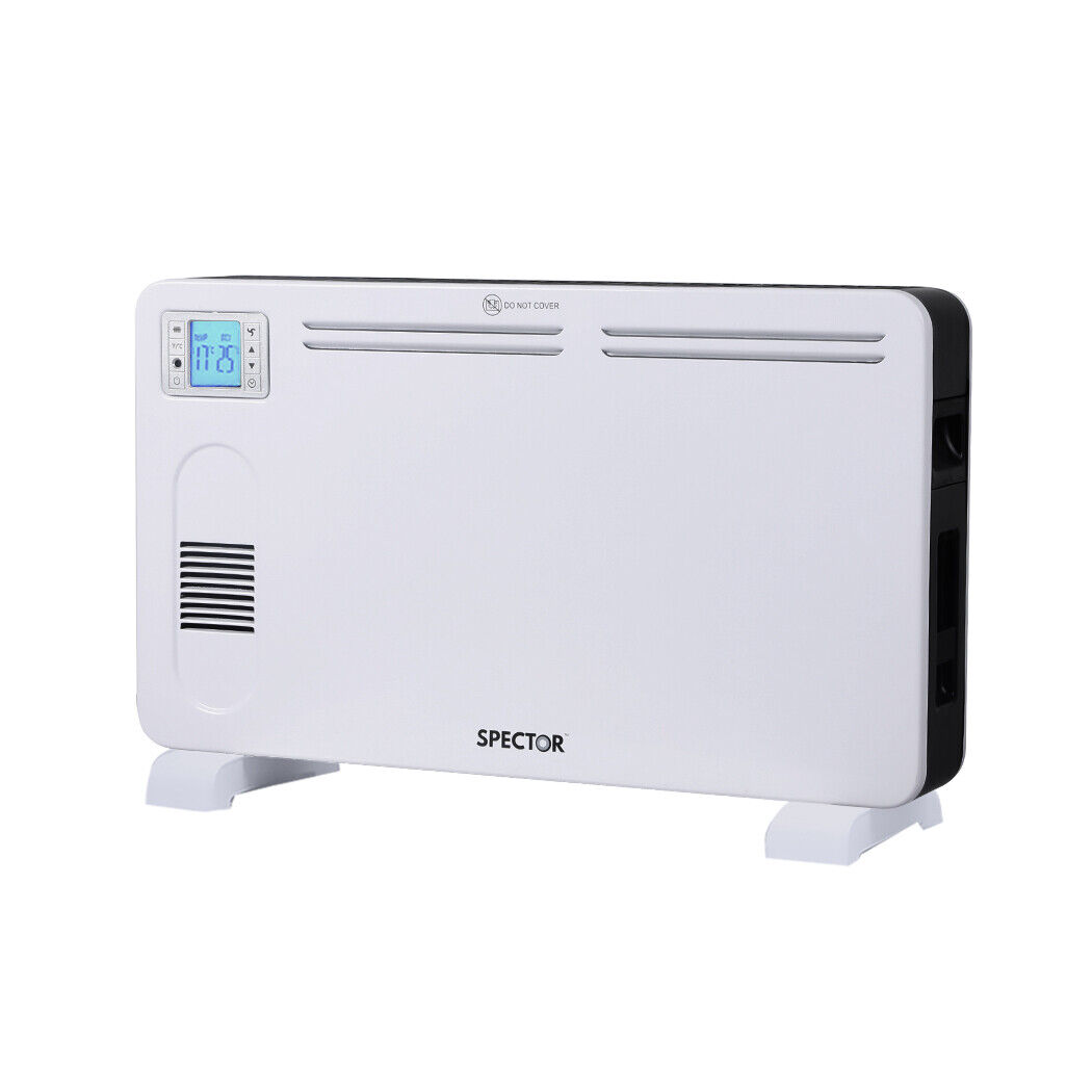 Spector Electric Panel Heater Portable Convection Remote Control 2300W 11