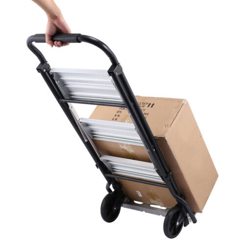 Folding Hand Truck Dolly Luggage Carts 220lbs Capacity Industrial/Travel/Shoppin