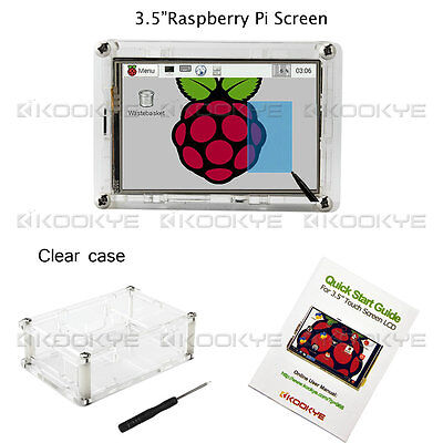 """3.5"""" Raspberry Pi Touch Screen Clear Case For Pi 2 Pi3 Model B Shipping From US"""