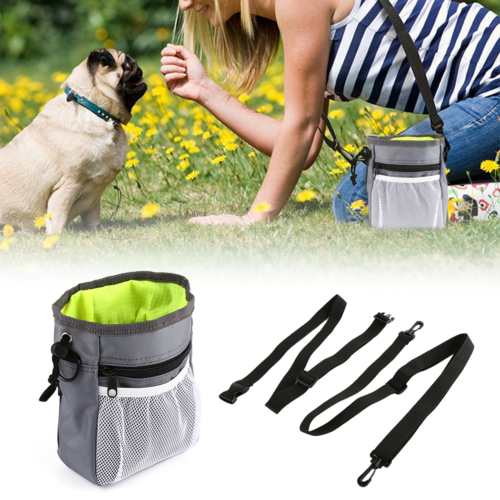 Durable Pet Dog Cat Obedience Pouch Training Treat Bait Food Snack Bag Dispenser