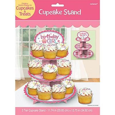 Amscan Sweet Little Cupcake - Sweet Little Cupcake Girl Pink Lil' 1st Birthday Party Decoration Cupcake Stand