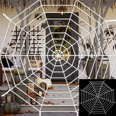 9ft Large Spider Web Fake Stretch Cobweb for  Themed Parties Decoration 51](Spider Web Decorations)