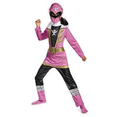 Pink Ranger Power Rangers Super Megaforce Fancy Dress Halloween Child - Power Ranger Megaforce Halloween